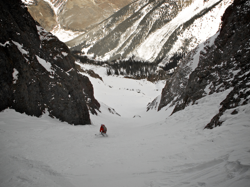 Faceting the Fatwah Couloir – Ophir, CO – 01/10/12